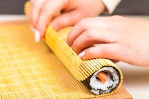 Sushi de choucroute et saumon